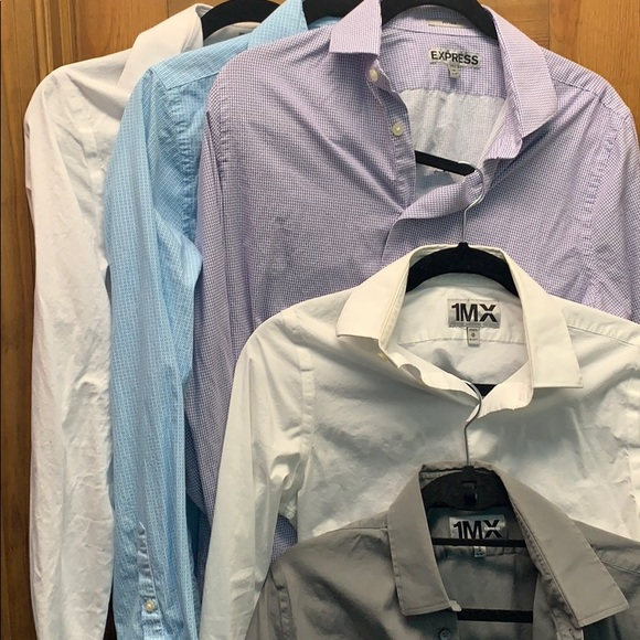 Express Other - Lot of 5 express shirts XS, S, M all fitted / slim